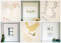 name prints   #projectnursery #franklinandben #nursery