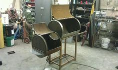 "Bbq smoker made from 20"" gas line."