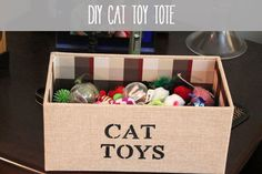 DIY: Cat Toy Tote
