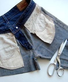 how to properly cut off jeans/pants to make shorts. - USEFUL Could have totally used this!
