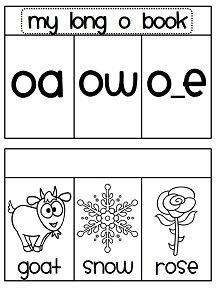 Long o sounds book where students sort the picture word under the correct sound - or you can print it premade like this! 15 picture word cards per book!
