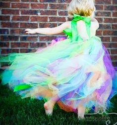 Flower girl tulle dress $55