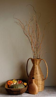 #demijohn #vintage #home #decor #wicker #basket