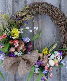Easter Wreath Spring Door Decor Woodland by NewEnglandWreath
