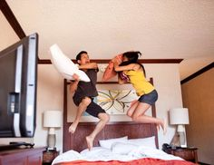 HONEYMOON: You might want to leave this one out of your Facebook photo album, but a photo of your hotel room is a must-have -- you know, for memorys sake.  Who Should Take It: You, of each other #honeymoonpictures