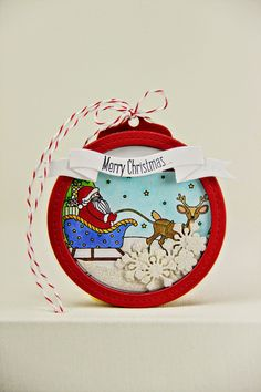 Merry Christmas Shaker Tag by Erin Lincoln for Papertrey Ink (September 2014)