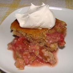 Strawberry Orange Rhubarb Cake