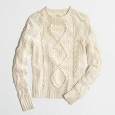 Factory beaded-cable sweater (L)