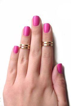 Double Knuckle Rings #LOVE #Jewelry #accessories #fashion #stylendubai