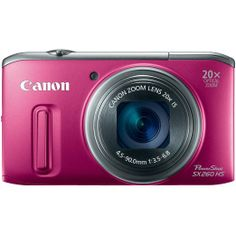 Amazon.com: Canon PowerShot SX260 HS 12.1 MP CMOS Digital Camera with 20x Image Stabilized Zoom 25mm Wide-Angle Lens and 1080p Full-HD Video...