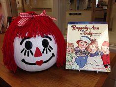 Raggedy Ann character pumpkin.