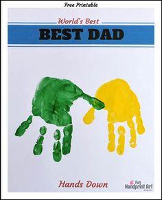 craft, fun handprint, handprint art, hands down best dad printable