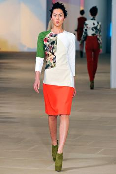 Preen Fall 2012. I am in love with the color mixing.