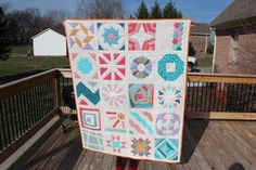 - finished block of the month quilt
