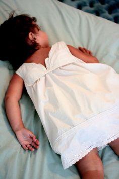pillowcase dress for a little girl