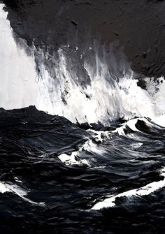 Mesmerized by the raging, unyielding waters in Werner Knaupp's painting