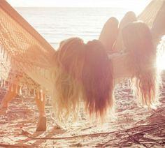 beach and friends, friends and beach.