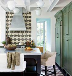Egg blue, green, olive, cream. vintage tones, kitchen