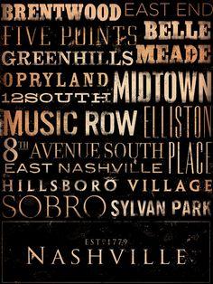 Love these Nashville neighborhood prints
