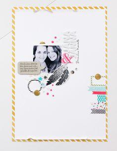 #papercraft #scrapbook #layout. Janna Werner