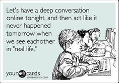 Let's have a deep conversation...