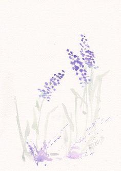 Art  Watercolor  Painting  - Print my Original Work flower  8x11  floral spring home decor lavender illustration - blue purple green. $19.00, via Etsy.