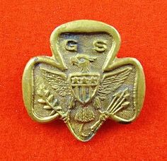 Earlier Girl Scout Three Star Trefoil Pin ca. 1917-1924