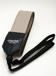 Couch camera strap -- beautifully handmade!