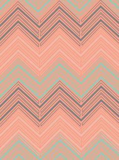 Soft Chevron #print by The Velvet Owl Design Studio #art #pattern