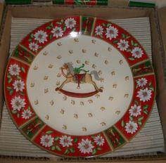 KOBE Charlton Hall China Christmas 4 DESSERT/SALAD PLATES~NIB & DISCONTINUED | eBay