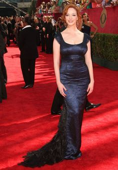 Christina Hendrics no Emmy Awards 2009.