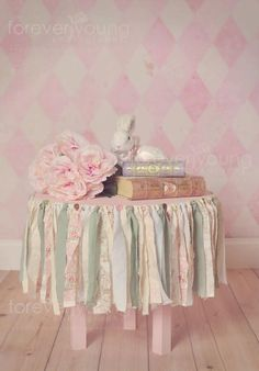shabby Chick rag garland  easter tea party by crystalchuckgracie, $20.00