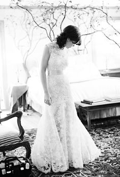 Lace wedding dress.  Love this.