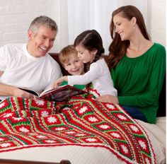 This Holly Jolly Throw is the perfect Christmas crochet pattern. It's full of festive cheer!