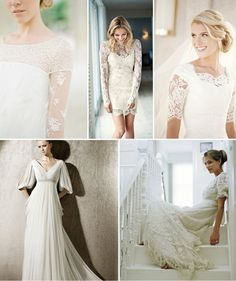 wedding dress styles with sleeves