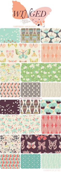 winged fabric collection by bonnie christine