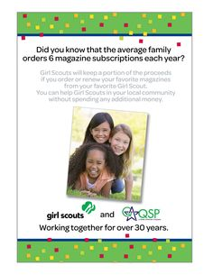 Print & Digital Magazines for yourself or gifts - GSKSMO's  Candy, Nut & Magazine Program, now-Oct. 13, 2013! Help girls raise funds for fall activities and service projects! Don't know a Girl Scout? Email candy@gsksmo.org.
