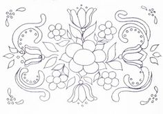 Bauernmalerei pattern