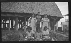 Group portrait in front of building. Creator/Contributor: Lambert, Sylvester Maxwell, 1882-1947, Photographer Date: between 1919 and 1939 Contributing Institution: UC San Diego, Mandeville Special Collections Library