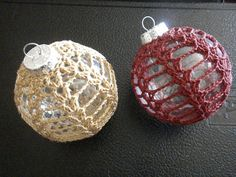 Red and Gold Ornaments by Crafty Kitten, via Flickr