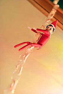 Elf on a Shelf: candy cane chain