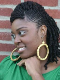 natural black braided hairstyles | ... braids with roll hairstyle – thirstyroots.com: Black Hairstyles and
