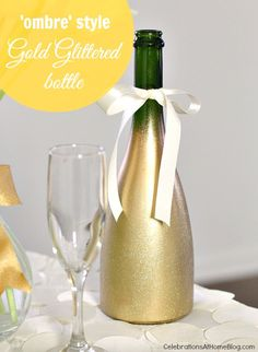 DIY :: OMBRE STYLE GOLD GLITTERED BOTTLE