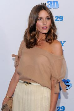 """Olivia Palermo attends the premiere of """"The Smurfs"""" at the Ziegfeld Theater on July 24, 2011 in New York City."""
