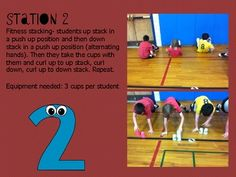 Physical Education Cup Stacking
