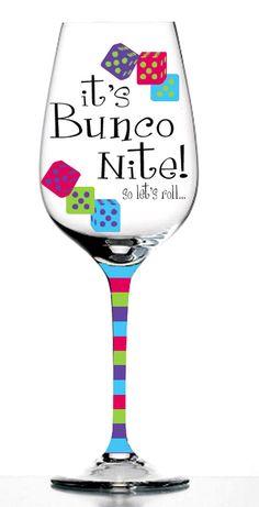 Bunco Wine Glasses - Bunco Party Kitchen...bunco website