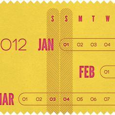 linear calendar | the made shop