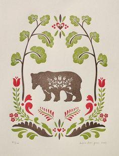 folk art, bears, paper, dutch doors, art journals