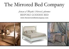 Glorious GODDESS MIRRORED BEDS from The Mirrored Bed Company. Beds built around your dreams... contact us now to help us make yours!