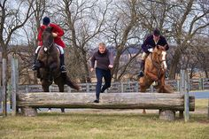 Breeders' Cup winning trainer Michael Dickinson doesn't need a horse to clear fences!